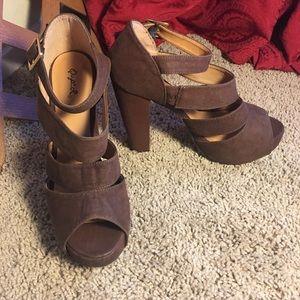 Qupid Boho Chunky Heels